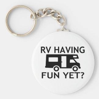 Rv que tiene la diversión con todo Wordplay Llavero Redondo Tipo Pin