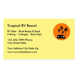 RV Resort Travel Business Cards