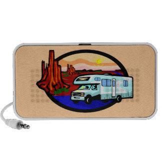 Rv Road Trip Camping Desert Doodle Travel Speaker