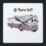 """RV THERE YET CLASS A CLOCK<br><div class=""""desc"""">RV THERE YET CLASS A CLOCK Size 10.75&quot; x 10.75&quot;. •Material: Grade-A acrylic. •One AA battery required (not included). •Add photos,  artwork,  and text.</div>"""