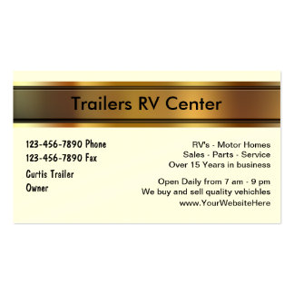 RV Trailer Business Cards