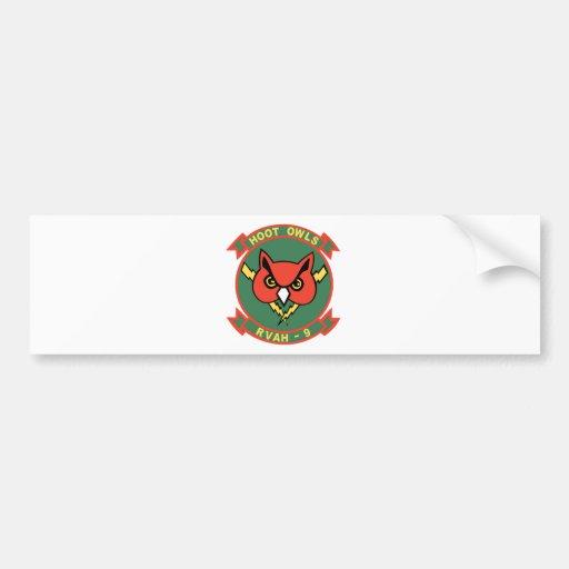 RVAH-9 Hoot Owl Bumper Sticker