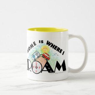 RVing/taza de café del viaje por carretera