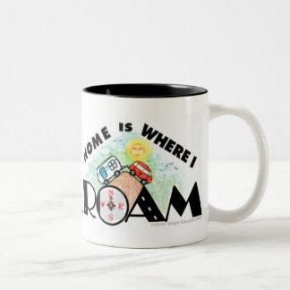 RVing/taza de café del viaje por carretera Taza De Dos Tonos