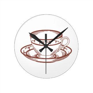 RW Tea Cup Round Clock