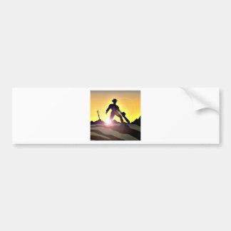 RWAC: Cowboy Chainsaw Spade Car Bumper Sticker