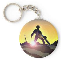 RWAC: Cowboy Chainsaw Spade Keychain