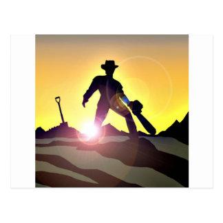 RWAC: Cowboy Chainsaw Spade Postcard