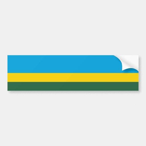 Rwanda/bandera ruandesa etiqueta de parachoque
