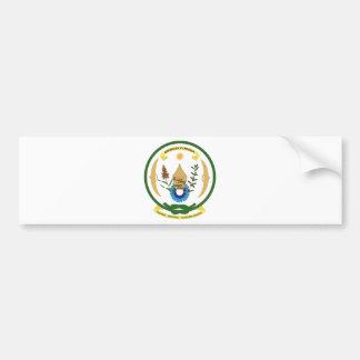 Rwanda Coat of Arms Car Bumper Sticker