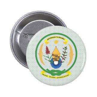 Rwanda Coat of Arms detail Button
