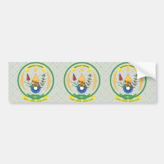 Rwanda Coat of Arms detail Car Bumper Sticker