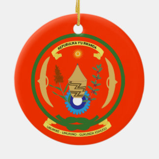 RWANDA* Crest Christmas Ornament