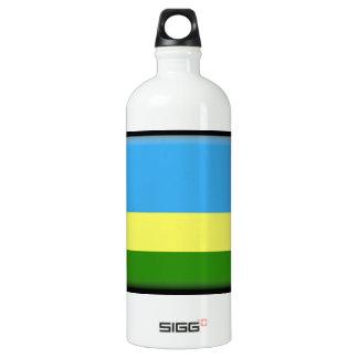 Rwanda Flag Aluminum Water Bottle
