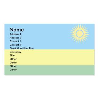 Rwanda Flag Business Card Templates