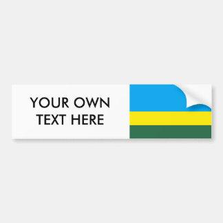 Rwanda Flag Car Bumper Sticker