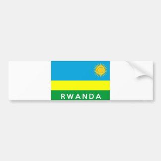 rwanda flag country text name car bumper sticker