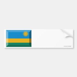 Rwanda Flag Jewel Car Bumper Sticker