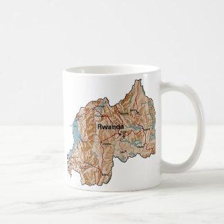 Rwanda Flag ~ Map Mug