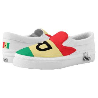 Rwanda Flag -.png Slip-On Sneakers