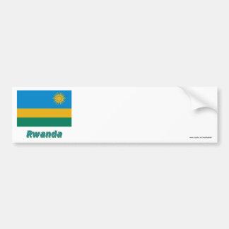 Rwanda Flag with Name Car Bumper Sticker