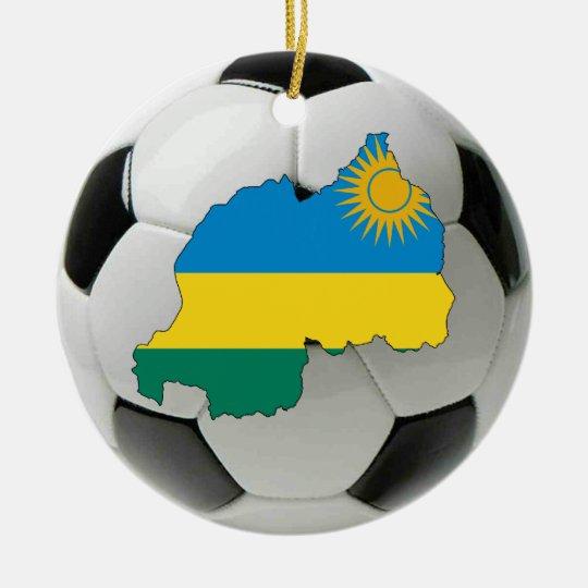 Rwanda football soccer ornament