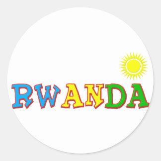 Rwanda Goodies Round Sticker