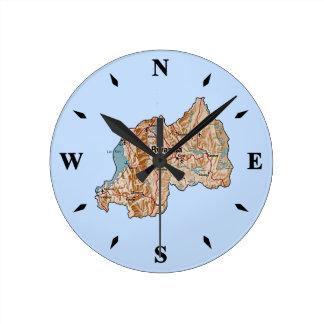 Rwanda Map Clock