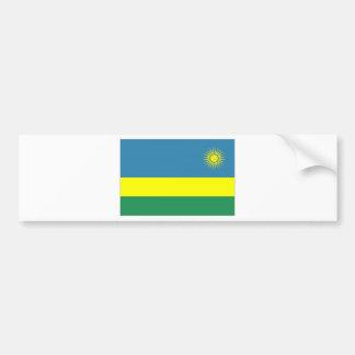 Rwanda National Flag Car Bumper Sticker