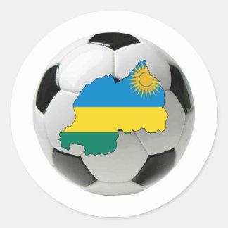 Rwanda national team classic round sticker