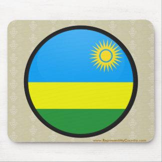 Rwanda quality Flag Circle Mouse Pad
