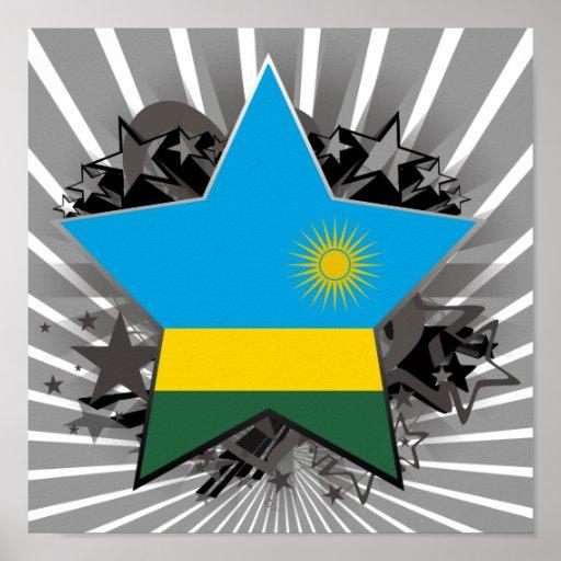 Rwanda Star Poster