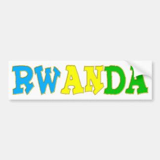 Rwanda the land of 1000 hills bumper sticker