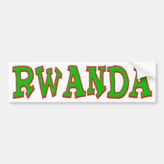 Rwanda the land of 1000 hills car bumper sticker