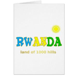 Rwanda the land of 1000 hills card