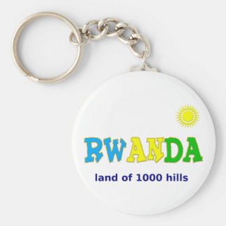 Rwanda the land of 1000 hills keychain