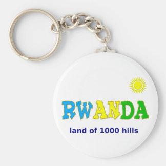 Rwanda the land of 1000 hills keychains