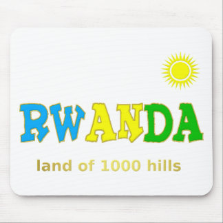 Rwanda the land of 1000 hills mouse pad