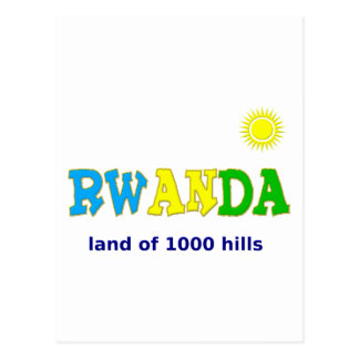 Rwanda the land of 1000 hills post cards