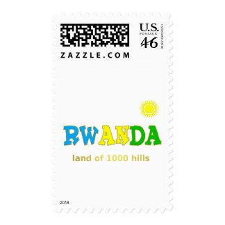 Rwanda the land of 1000 hills postage stamp