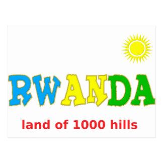 Rwanda the land of 1000 hills postcard