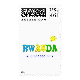Rwanda the land of 1000 hills stamp