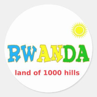 Rwanda the land of 1000 hills sticker