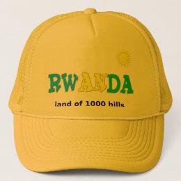 Rwanda the land of 1000 hills trucker hat