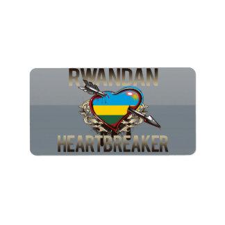 Rwandan Heartbreaker Address Label
