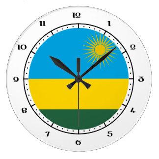 Rwandan / Rwandese flag clocks