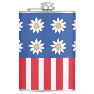 RWB Daisies and Stripes Flask