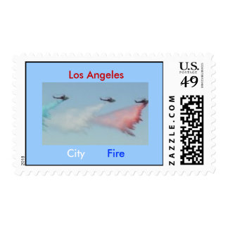 RWB Fire Helicopters, Los Angeles, City, Fire Stamp