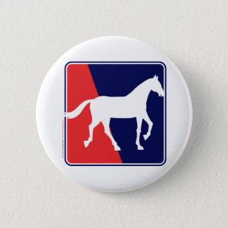 RWB-Horse Pinback Button