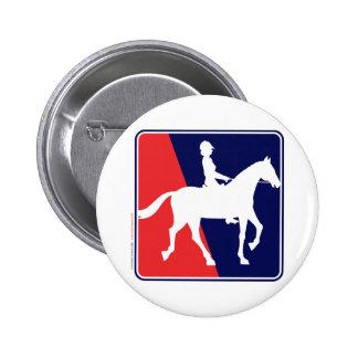 RWB-HORSE-RIDER 2 INCH ROUND BUTTON